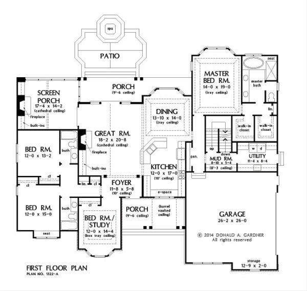 European Floor Plan - Other Floor Plan Plan #929-25