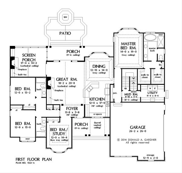 European Floor Plan - Other Floor Plan #929-25