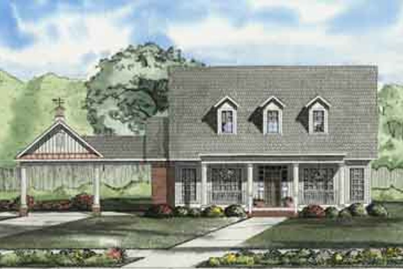 Home Plan - Southern Exterior - Front Elevation Plan #17-2109