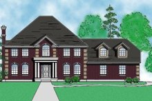 Home Plan - European Exterior - Front Elevation Plan #5-192