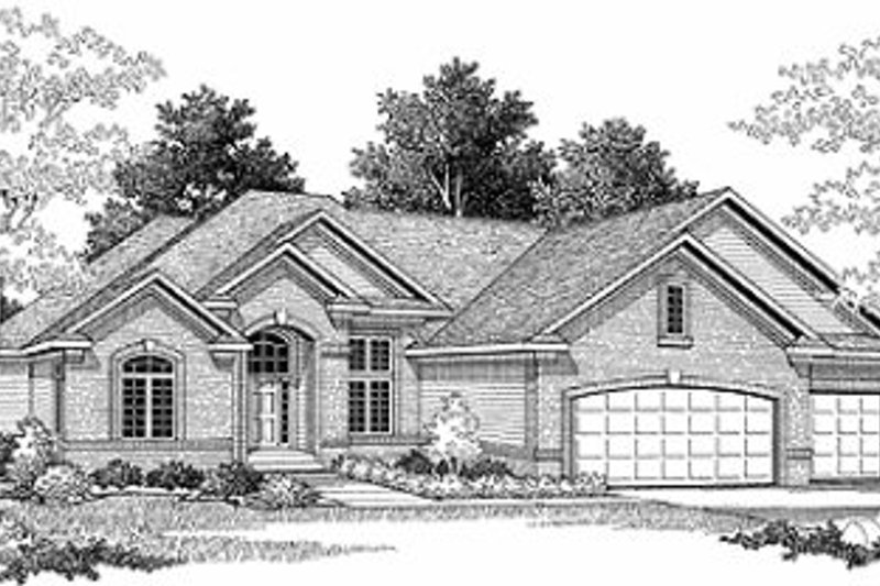 European Style House Plan - 2 Beds 2.5 Baths 2397 Sq/Ft Plan #70-504 Exterior - Front Elevation