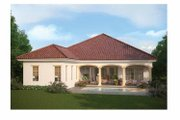 Mediterranean Style House Plan - 3 Beds 2.5 Baths 2576 Sq/Ft Plan #938-24 Exterior - Rear Elevation