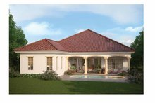 Mediterranean Exterior - Rear Elevation Plan #938-24