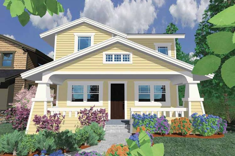 Traditional Exterior - Front Elevation Plan #509-228 - Houseplans.com