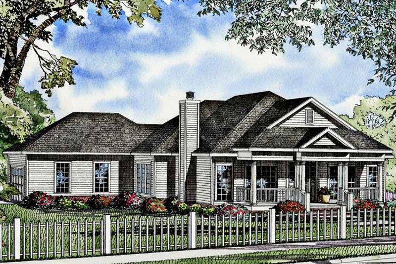 Classical Exterior - Front Elevation Plan #17-2992 - Houseplans.com