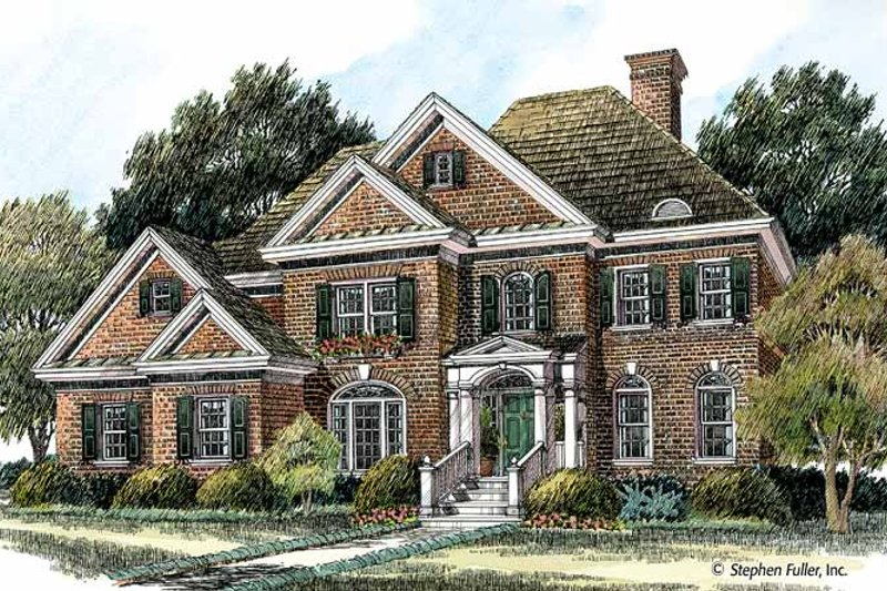 House Plan Design - Colonial Exterior - Front Elevation Plan #429-378
