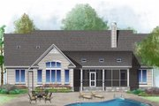 Ranch Style House Plan - 4 Beds 3 Baths 2432 Sq/Ft Plan #929-1018 Exterior - Rear Elevation