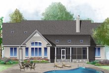 Dream House Plan - Ranch Exterior - Rear Elevation Plan #929-1018