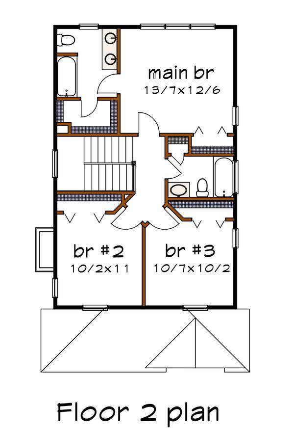 House Plan Design - Southern Floor Plan - Upper Floor Plan #79-196