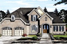 Traditional Exterior - Front Elevation Plan #46-863