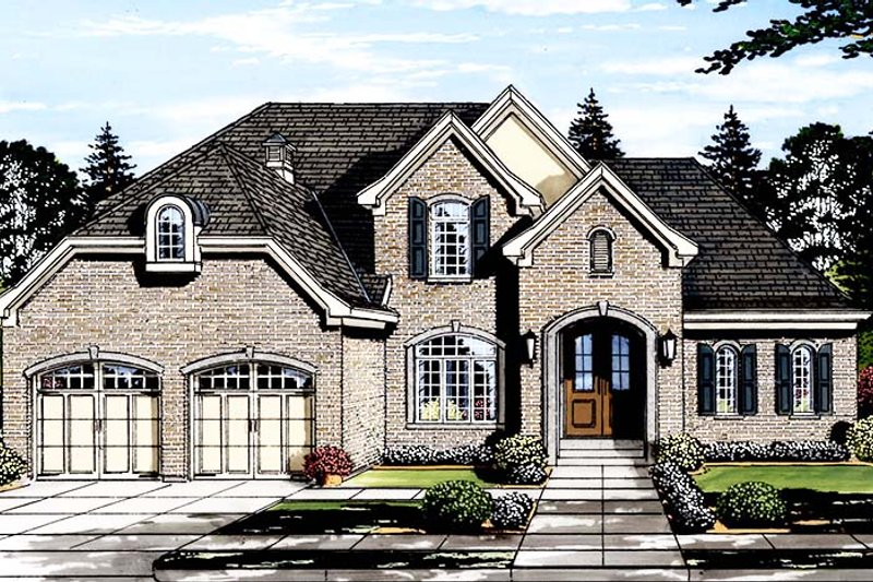Traditional Exterior - Front Elevation Plan #46-863 - Houseplans.com