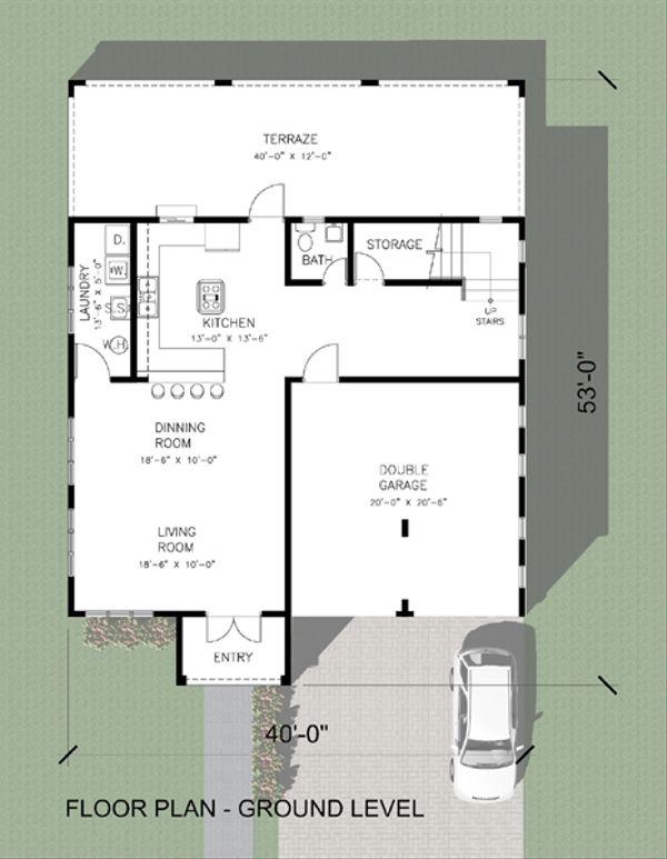 House Plan Design - Modern Floor Plan - Main Floor Plan #495-4