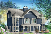 Traditional Style House Plan - 6 Beds 4 Baths 3798 Sq/Ft Plan #25-4515 Exterior - Front Elevation