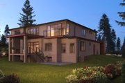 Contemporary Style House Plan - 5 Beds 5.5 Baths 6302 Sq/Ft Plan #1066-56 Exterior - Rear Elevation