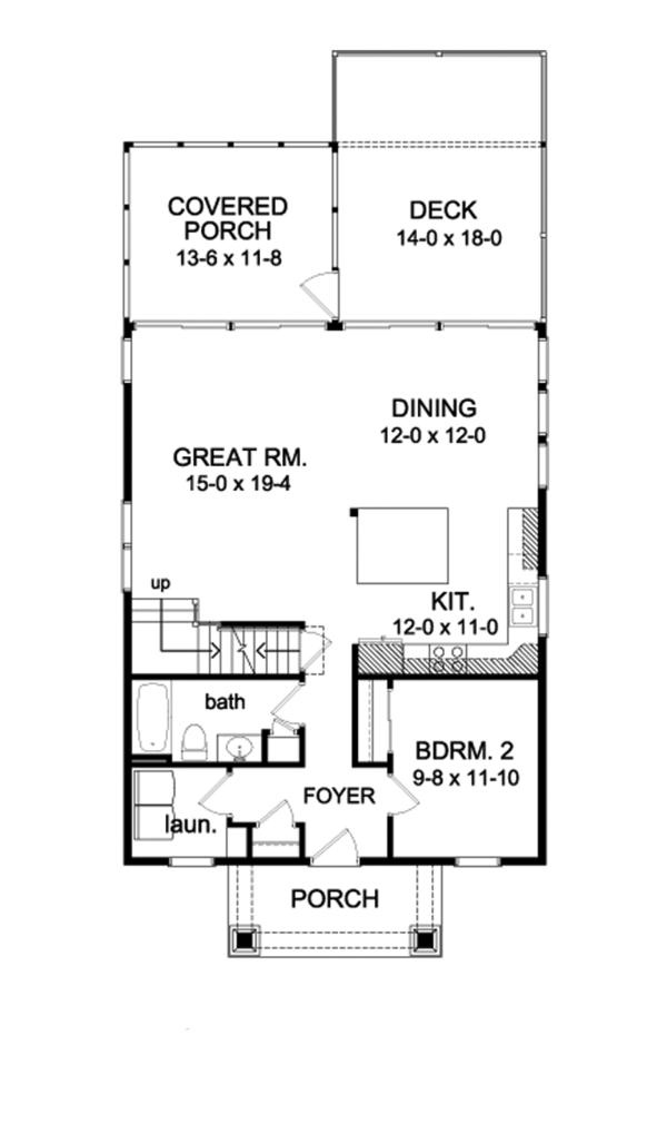 Traditional Floor Plan - Main Floor Plan Plan #1010-77