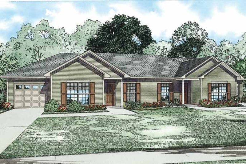 Traditional Exterior - Front Elevation Plan #17-3335 - Houseplans.com