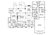 European Style House Plan - 5 Beds 4 Baths 3360 Sq/Ft Plan #929-1009 Floor Plan - Main Floor Plan