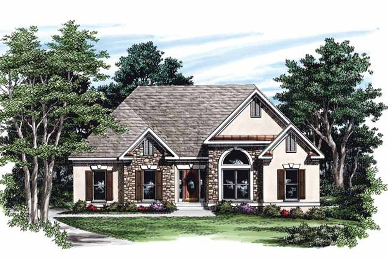 Country Exterior - Front Elevation Plan #927-240