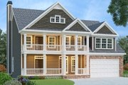 Traditional Style House Plan - 4 Beds 4 Baths 2739 Sq/Ft Plan #419-140 Exterior - Front Elevation