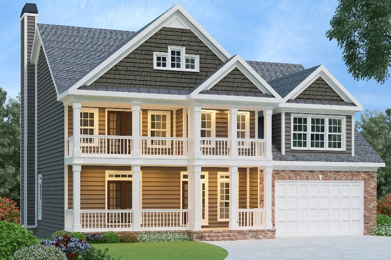Traditional Style House Plan - 4 Beds 4 Baths 2739 Sq/Ft Plan #419-140
