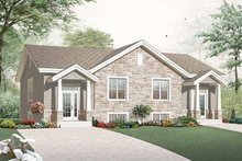 Home Plan - Craftsman Exterior - Front Elevation Plan #23-2452