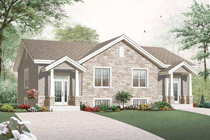 Craftsman Exterior - Front Elevation Plan #23-2452 - Houseplans.com