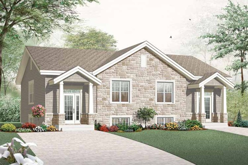 House Plan Design - Craftsman Exterior - Front Elevation Plan #23-2452