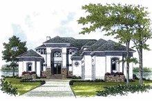 Architectural House Design - Mediterranean Exterior - Front Elevation Plan #453-488