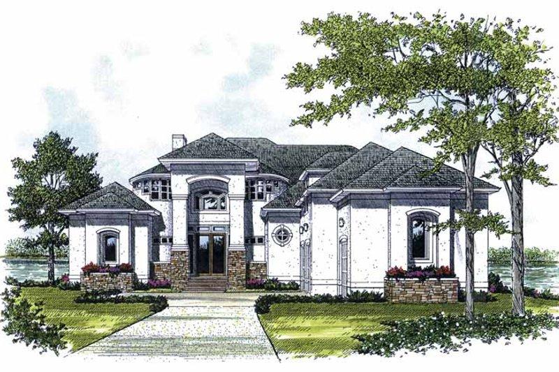 Mediterranean Style House Plan - 3 Beds 3.5 Baths 3313 Sq