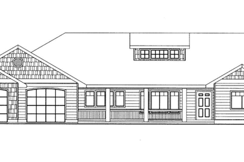 Ranch Exterior - Front Elevation Plan #117-851 - Houseplans.com