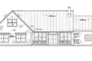 Country Exterior - Rear Elevation Plan #140-170