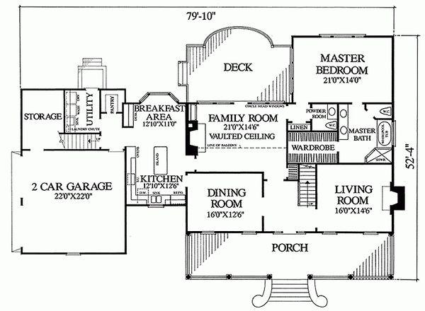 Country Floor Plan - Main Floor Plan Plan #137-151
