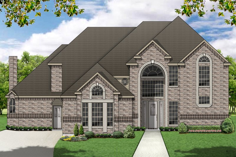 Traditional Exterior - Front Elevation Plan #84-419 - Houseplans.com