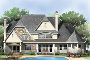 European Style House Plan - 5 Beds 4 Baths 4221 Sq/Ft Plan #929-855 Exterior - Rear Elevation