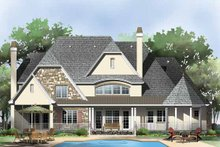 European Exterior - Rear Elevation Plan #929-855