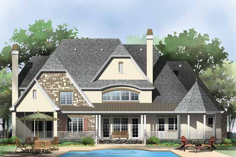 European Exterior - Rear Elevation Plan #929-855 - Houseplans.com