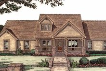 House Plan Design - Craftsman Exterior - Front Elevation Plan #310-1121