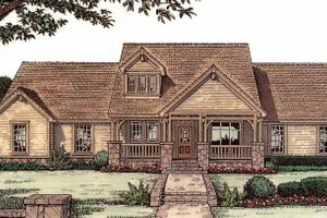 Architectural House Design - Craftsman Exterior - Front Elevation Plan #310-1121