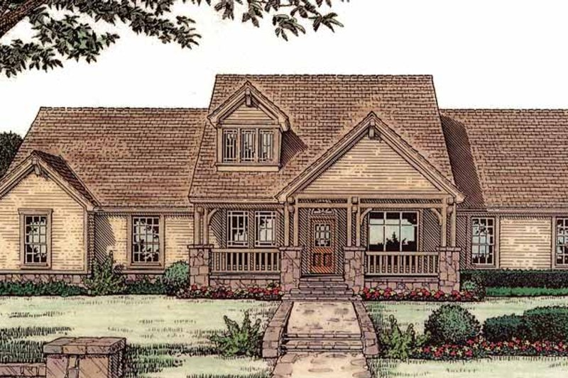 Craftsman Exterior - Front Elevation Plan #310-1121