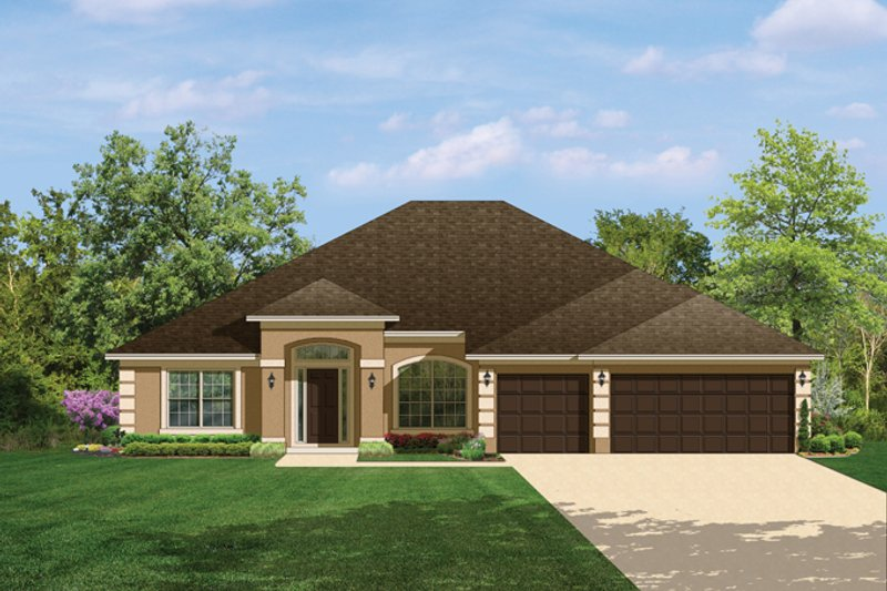 Traditional Exterior - Front Elevation Plan #1058-48 - Houseplans.com
