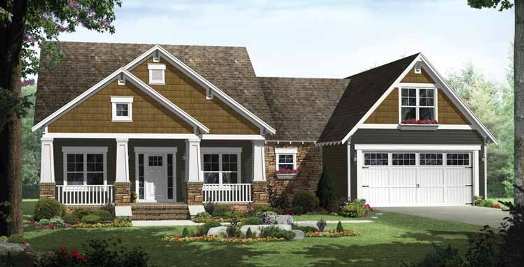Craftsman style house plan 3 beds 2 baths 1816 sq ft for Weinmaster house plans
