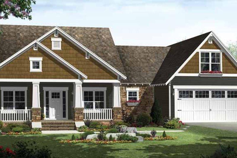 Craftsman Exterior - Front Elevation Plan #21-425 - Houseplans.com