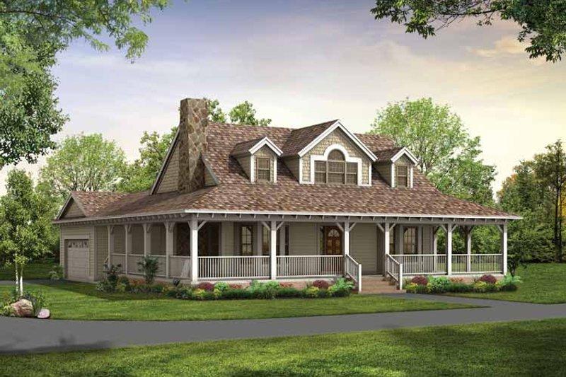 House Blueprint - Victorian Exterior - Front Elevation Plan #72-1130