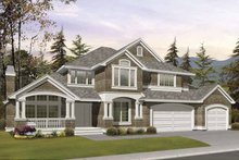 Architectural House Design - Craftsman Exterior - Front Elevation Plan #132-389