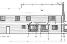 Victorian Exterior - Rear Elevation Plan #100-222
