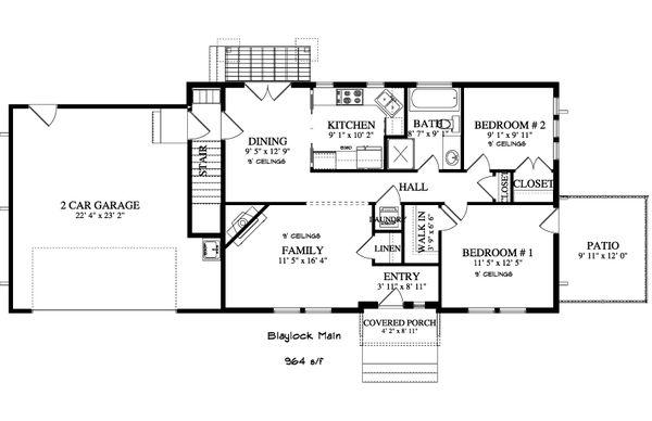 Ranch Floor Plan - Main Floor Plan #1060-38
