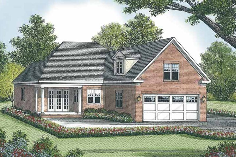 Traditional Exterior - Rear Elevation Plan #453-508 - Houseplans.com