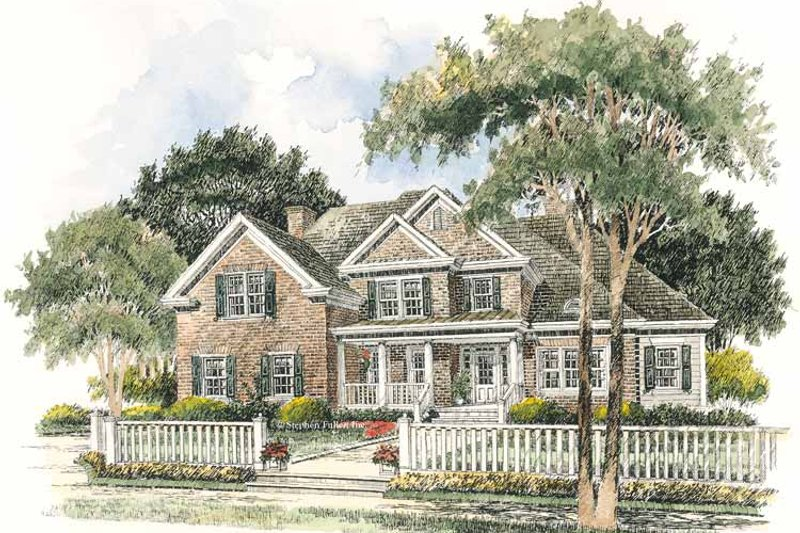 Colonial Exterior - Front Elevation Plan #429-285