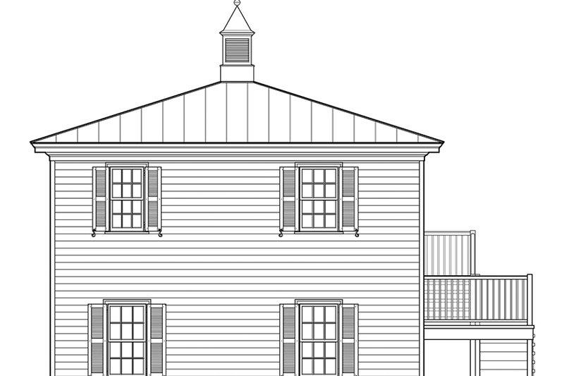 Traditional Exterior - Rear Elevation Plan #137-368 - Houseplans.com