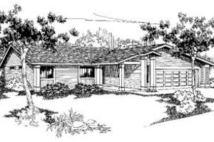 Ranch Exterior - Front Elevation Plan #60-332